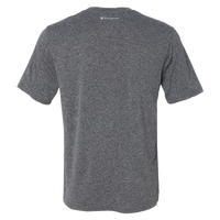 back view of Men's RUNdetroit tech short sleeve shirt