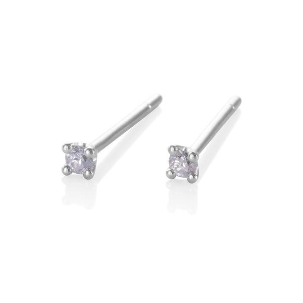 Puces d'oreilles - diamants