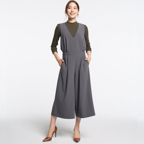 WOMEN V Neck Jumpsuit