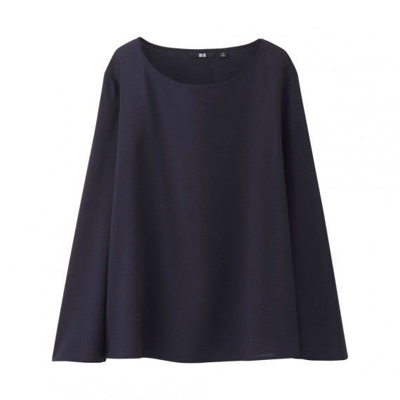 WOMEN Rayon Flare Long Sleeve T Blouse