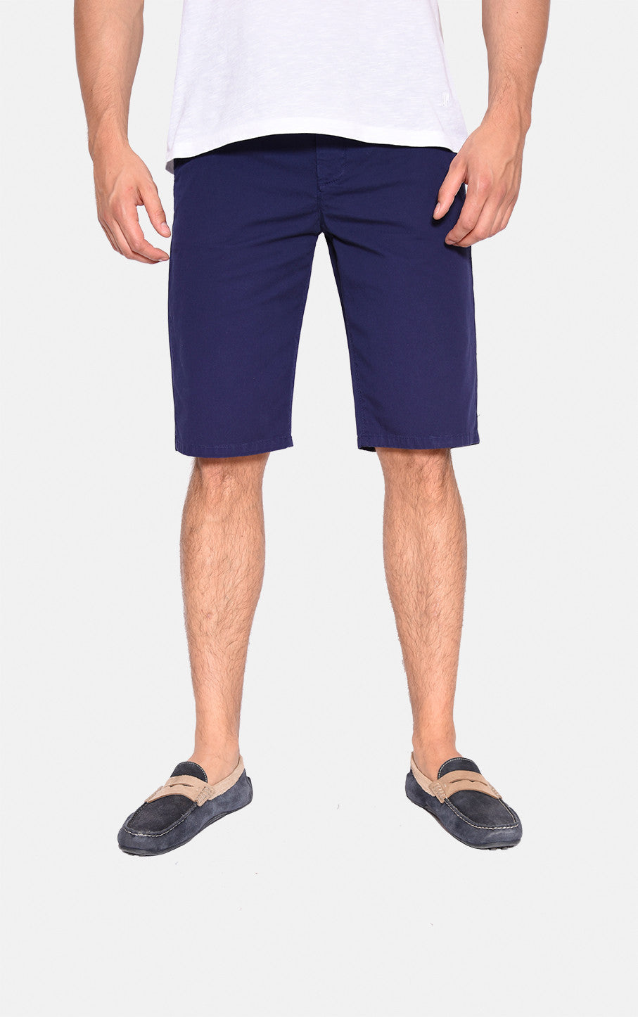 Shorts, Navy , Twill aus Baumwoll-Mix