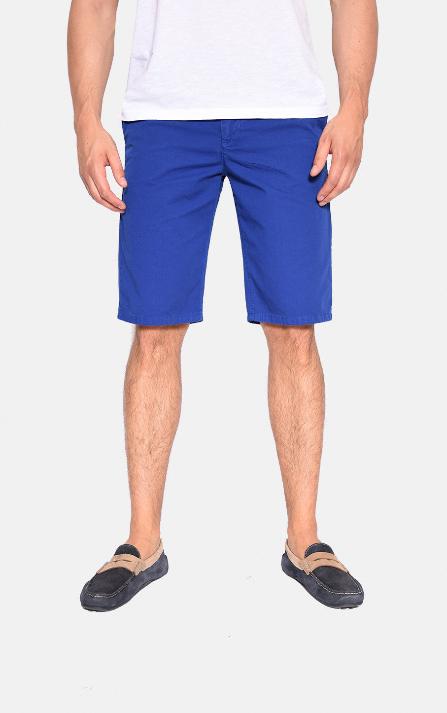 Shorts, Royal aus Twill-Baumwoll-Mix