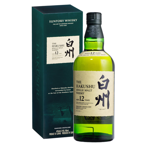 Suntory Hakushu Single Malt 12 years - From $360 Per Bottle