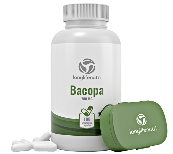 Bacopa Monnieri Extract 750 mg - 120 Vegetarian Capsules