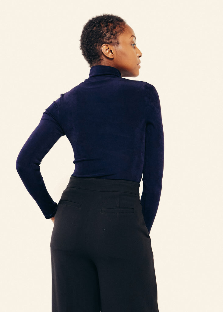 Yvonne Slinky Turtleneck- Navy