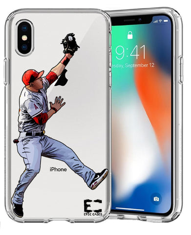 Mike Trout Epic Cases Ultra Slim Crystal Clear Soft Transparent TPU Case Cover Apple iPhone 6/7/8/Plus/X/XS/XS Max/XR/11/11 Pro/11 Pro Max