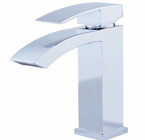 DAX 6690A Single Lever Bathroom Faucet in Chrome