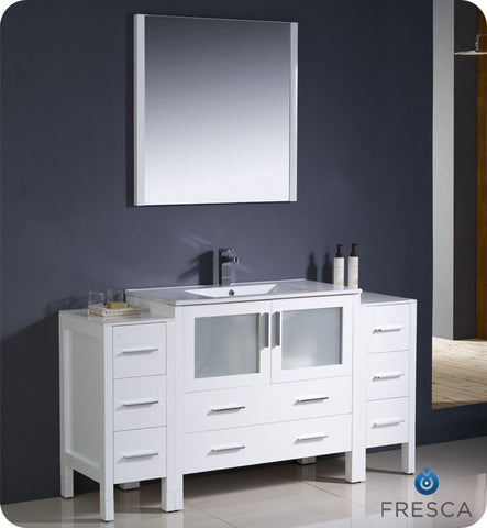 "[Adornus Aden 43"" Modern Bathroom Vanity Set Gloss White ADEN-43-HGW-Q] - Euro Bath"