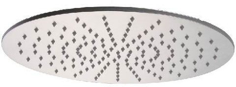 "ALFI 16"" Round  Brushed Solid Stainless Steel Multi Color LED Rain Shower Head LED5012-BSS"