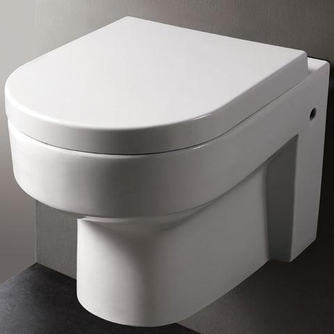 eago round modern wall mount dual flush toilet wd101 - Wall Mount Toilet