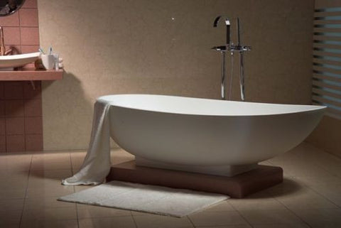 AQUAMOON LISBOA 71 WHITE FREESTANDING SOAKING BATHTUB TLISBOA