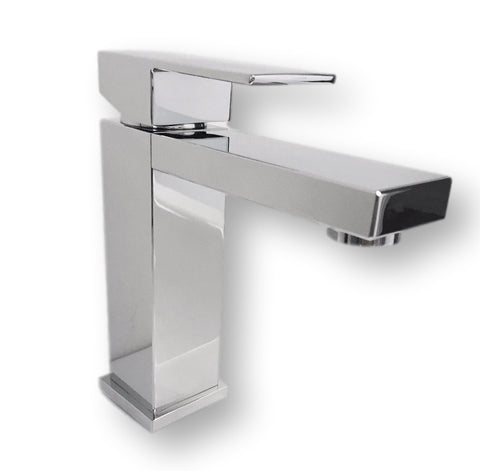 AQUAMOON MILAN CHROME SINGLE HANDLE BATHROOM FAUCET FMILANS01
