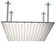 "ALFI 24"" Square  Polished Solid Stainless Steel Ultra Thin Rain Shower Head RAIN24S-PSS"