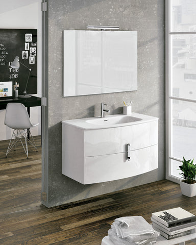 "Royo Round Vanity Modern 40"" with Mirror and Basin"