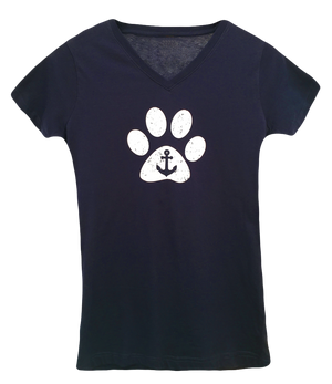 Anchor Paw V-Neck Tee T-Shirts