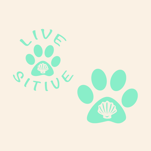 Paws on the Water Shell Dog Paw decal Decals