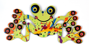 Tree Frog Metal Art Magnet Metal art