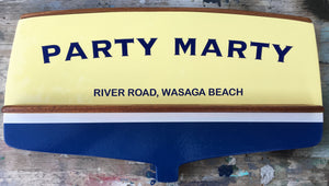 Boat Transom wall decor (classic with Mahogany Trim) Signs
