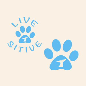 Paws on the Water Whale Fluke Dog Paw decal Decals