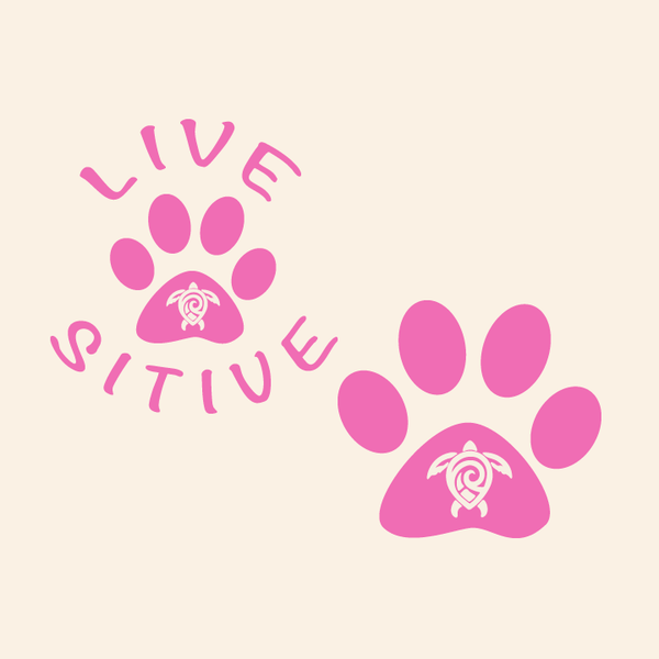 Paws on the Water Sea Turtle Dog Paw decal Decals