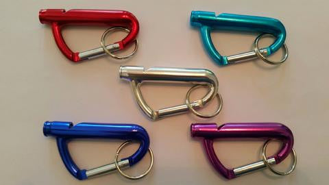 Various Safety Carabiner Whistles - 5 with slight imperfections - SafetyFirst