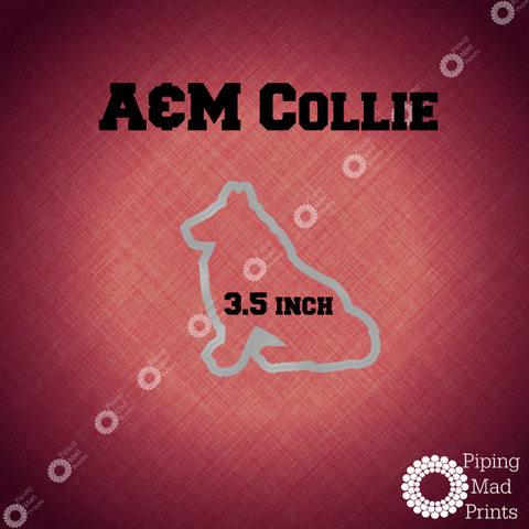 Texas A&M Collie 3D Printed Cookie Cutter - 3.5 inch - Piping Mad Prints - Green Bros Collective