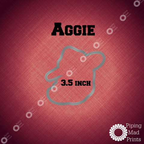 Texas A&M Aggie 3D Printed Cookie Cutter - 3.5 inch - Piping Mad Prints - Green Bros Collective