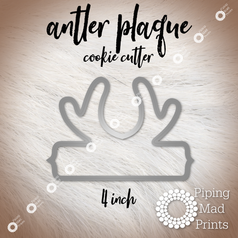 Antler Plaque 3D Printed Cookie Cutter - 4 inch