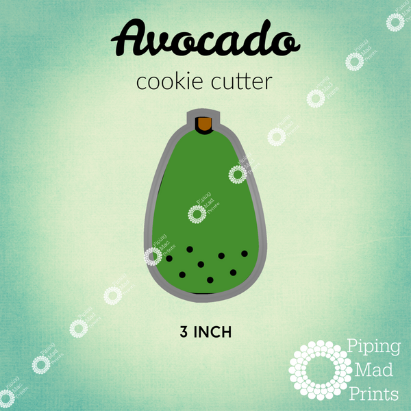 Avocado 3D Printed Cookie Cutter - 3 inch