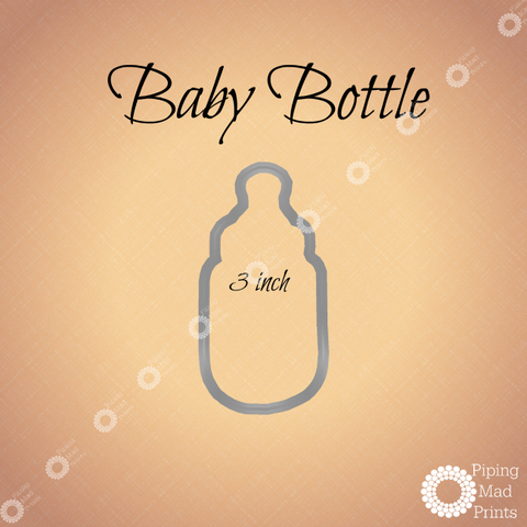 Baby Bottle 3D Printed Cookie Cutter - 3 inch - Piping Mad Prints - Green Bros Collective