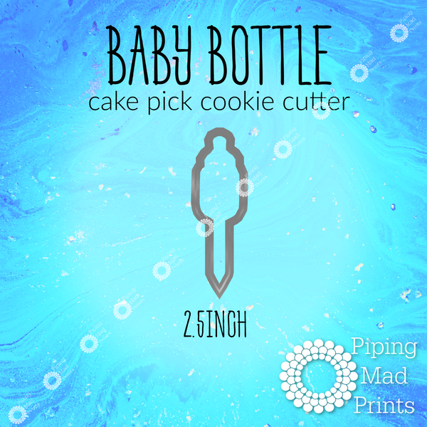 Baby Bottle 3D Printed Cake Pick Cookie Cutter - 2.5 inch