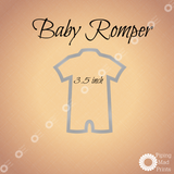 Baby Romper 3D Printed Cookie Cutter - 3.5 inch - Piping Mad Prints - Green Bros Collective