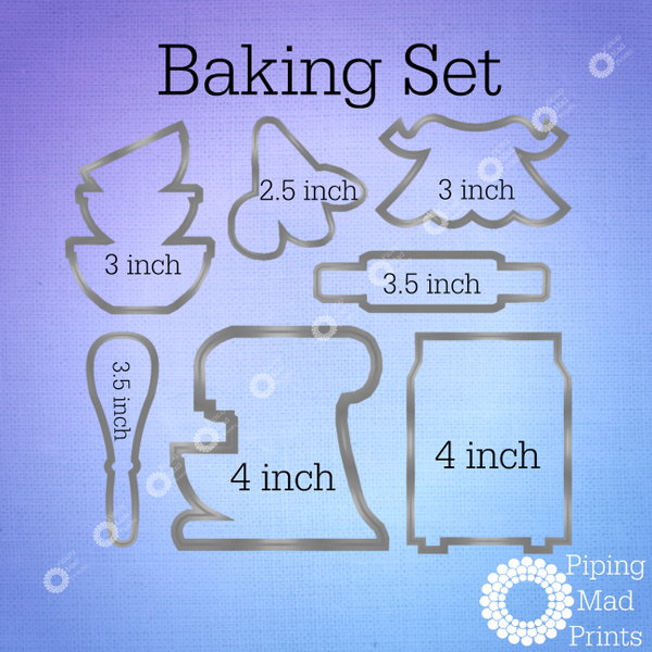 Baking 3D Printed Cookie Cutter - Set of 7