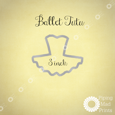 Ballet Tutu 3D Printed Cookie Cutter - 3 inch - Piping Mad Prints - Green Bros Collective