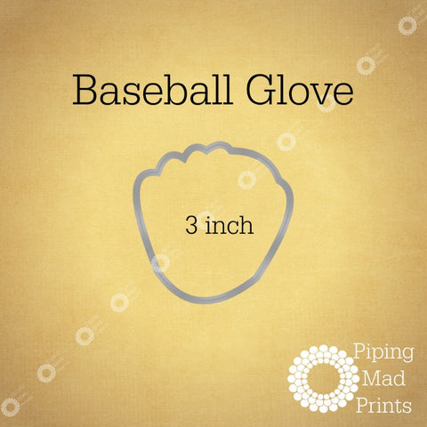 Baseball Glove 3D Printed Cookie Cutter - 3 inch - Piping Mad Prints - Green Bros Collective