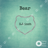 Bear 3D Printed Cookie Cutter - 3.5 inch - Piping Mad Prints - Green Bros Collective