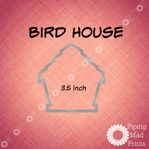 Bird House 3D Printed Cookie Cutter - 3.5 inch - Piping Mad Prints - Green Bros Collective