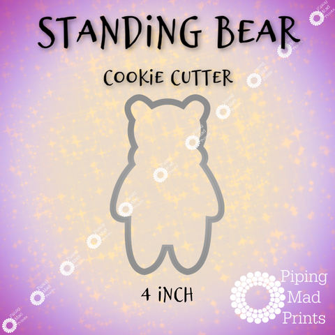 Standing Bear 3D Printed Cookie Cutter - 4 inch