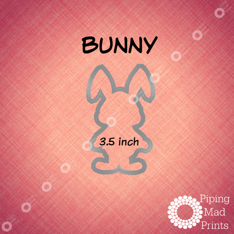 Bunny 3D Printed Cookie Cutter - 3.5 inch - Piping Mad Prints - Green Bros Collective