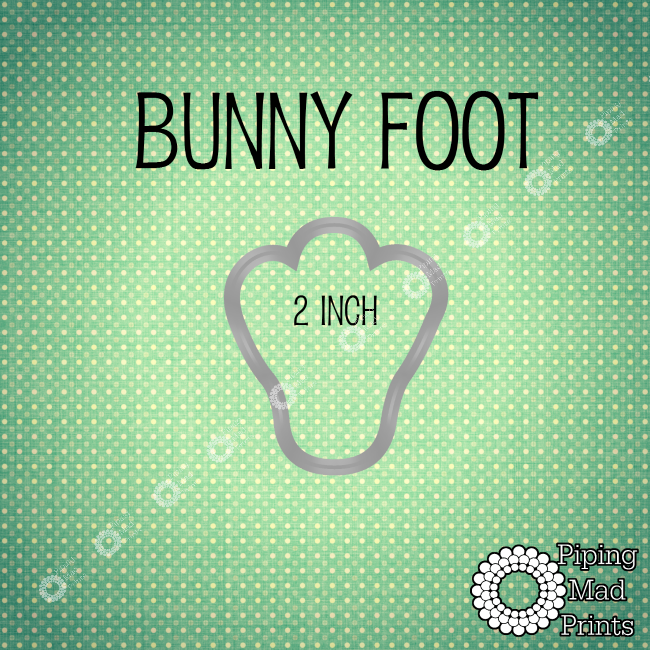 Bunny Foot 3D Printed Cookie Cutter - 2 inch - Piping Mad Prints - Green Bros Collective