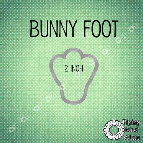 Bunny Foot 3D Printed Cookie Cutter - 2 inch