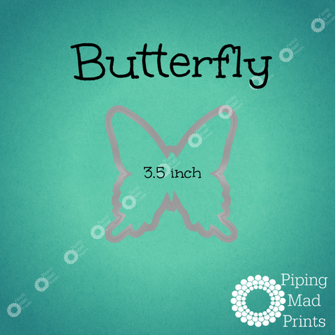 Butterfly 3D Printed Cookie Cutter - 3.5 inch - Piping Mad Prints - Green Bros Collective