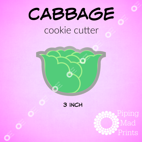 Cabbage 3D Printed Cookie Cutter - 3 inch