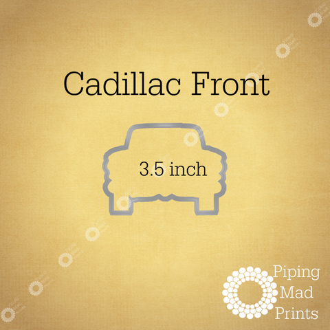 Cadillac Front 3D Printed Cookie Cutter - 3.5 inch - Piping Mad Prints - Green Bros Collective