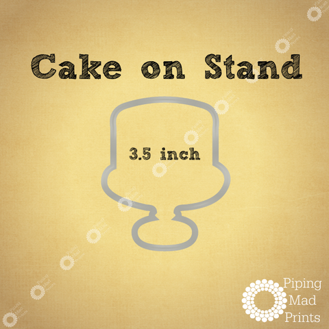 Cake on Stand 3D Printed Cookie Cutter - 3.5 inch