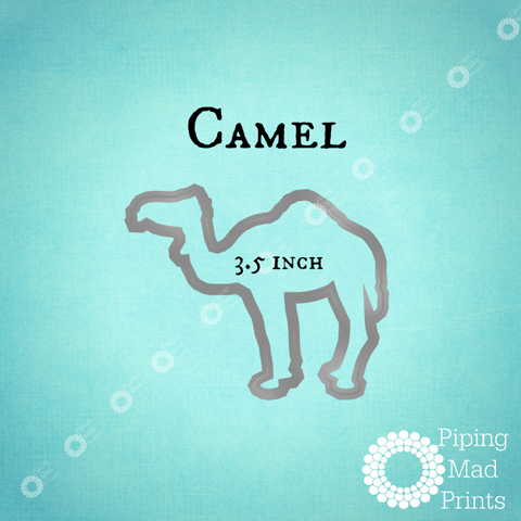 Camel 3D Printed Cookie Cutter - 3.5 inch - Piping Mad Prints - Green Bros Collective