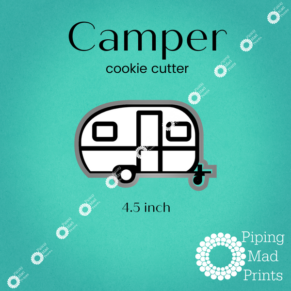 Camper 3D Printed Cookie Cutter - 4.5 inch