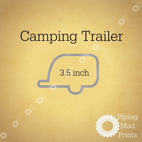 Camping Trailer 3D Printed Cookie Cutter - 3.5 inch - Piping Mad Prints - Green Bros Collective
