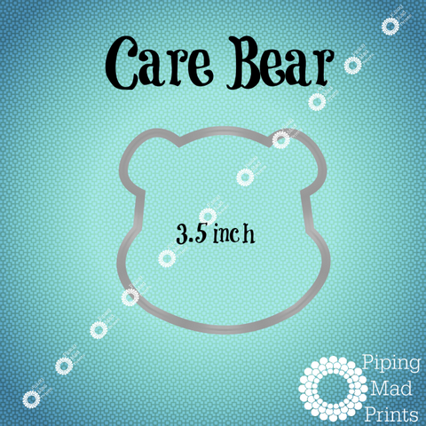 Care Bear 3D Printed Cookie Cutter - 3.5 inch - Piping Mad Prints - Green Bros Collective