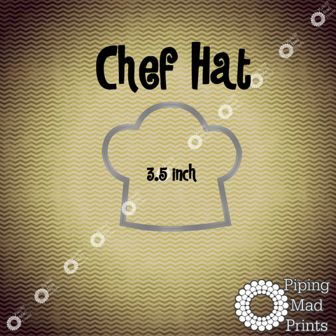 Chef Hat 3D Printed Cookie Cutter - 3.5 inch - Piping Mad Prints - Green Bros Collective